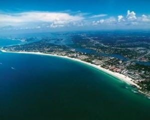 Siesta Key aerial photo for Florida destintion weddings